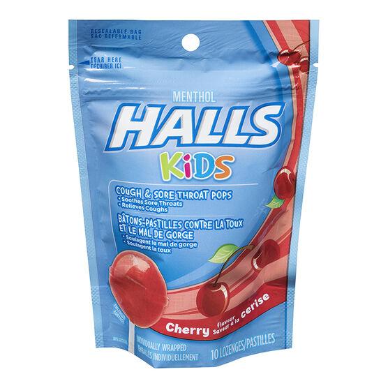 Halls Kids Vitamin C Pops - Cherry - 10's