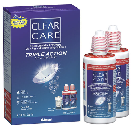 Alcon Clear Care Cleaning and Disinfection Solution - 2 x 90ml
