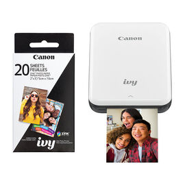 Canon Ivy Photo Printer with 20 Sheet 2x3 Zink Paper Pack - Slate Grey - PKG #13792