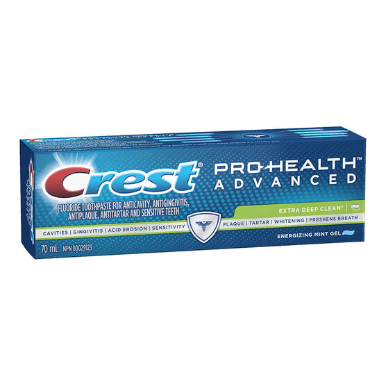Crest PRO-Health Advanced Extra Deep Clean Toothpaste - Energizing Mint Gel - 70ml