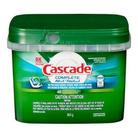 Cascade Complete ActionPac Dishwasher Detergent - Fresh Scent - 48's