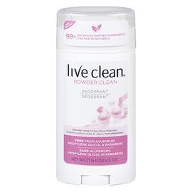 Live Clean Deodorant - Powder Clean - 71g