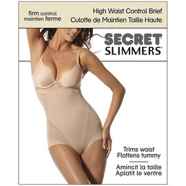 Secret Slimmers High Waist Control Brief - Large - Natural