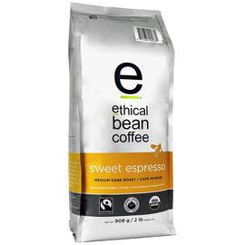 Ethical Bean Coffee - Sweet Espresso Medium Dark Roast - Whole Bean - 908g