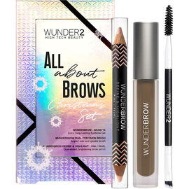Wunder2 Wunderbrow All About Brows Christmas Set - Brunette