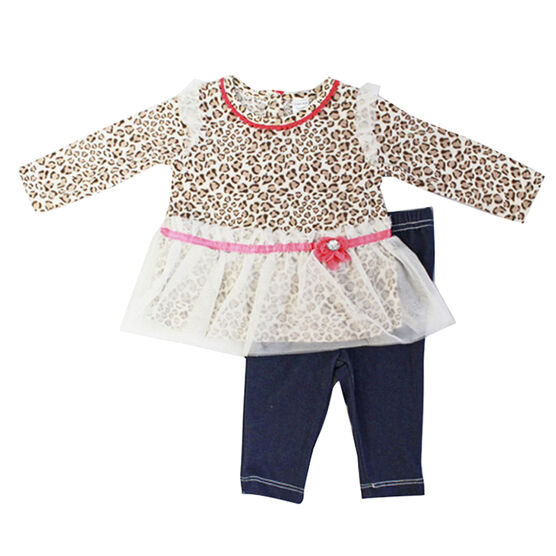 Baby Mode Leopard Print Outfit - 12-24 months - Assorted