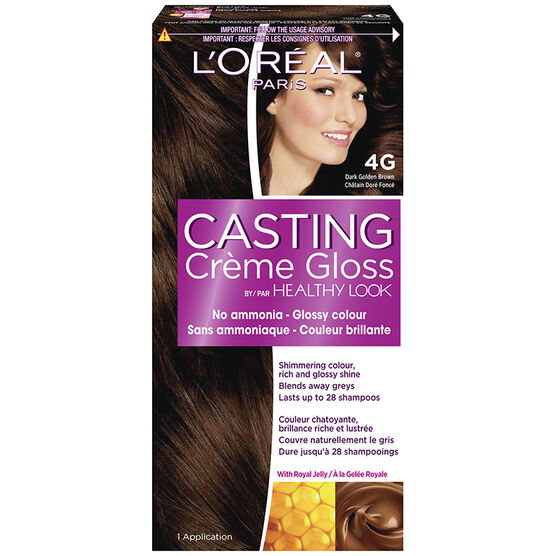 LOreal Casting Creme Colour G Dark Golden Brown London Drugs - Hair colour dark golden brown