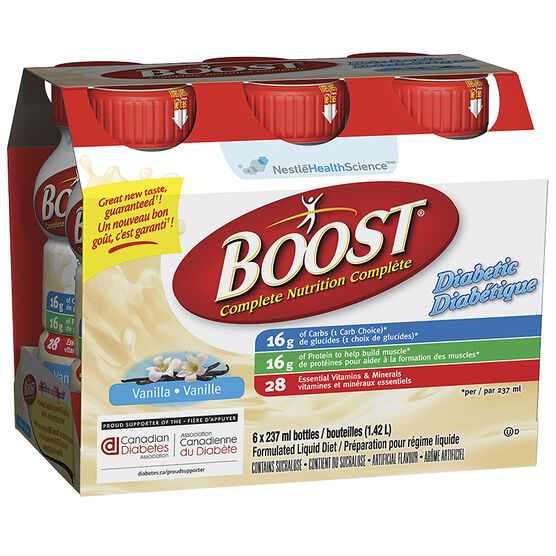 Boost Diabetic Drink - Vanilla - 6 x 237ml