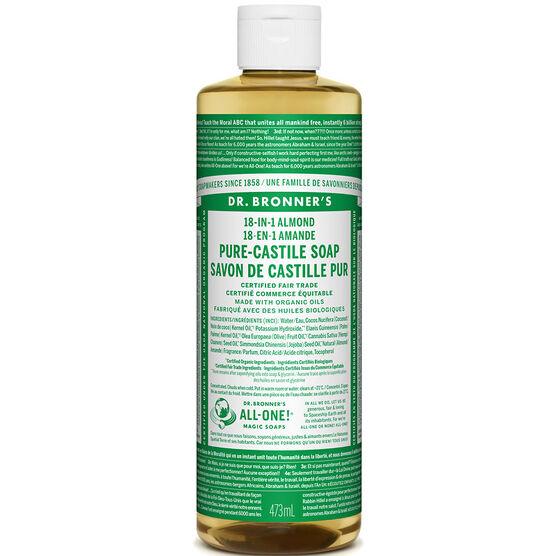 Dr. Bronner's 18-IN-1 Pure-Castile Liquid Soap - Almond - 473ml