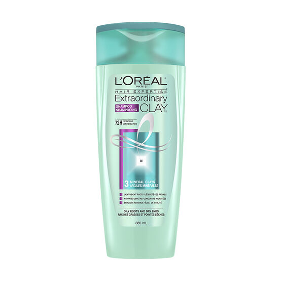 L'Oreal Extraordinary Clay Shampoo - Oily Roots & Dry Ends - 385ml