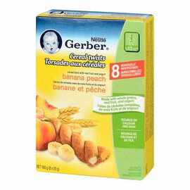 Gerber Graduates for Toddlers Cereal Twists - Banana Peach - 160g