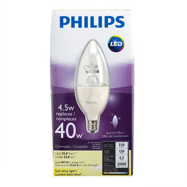 Philips Chandelier LED - Soft White - Small Base - 4.5w/2700k