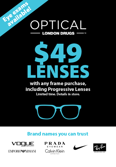 $49 Lenses with any frame purchase.  See in-store for details.