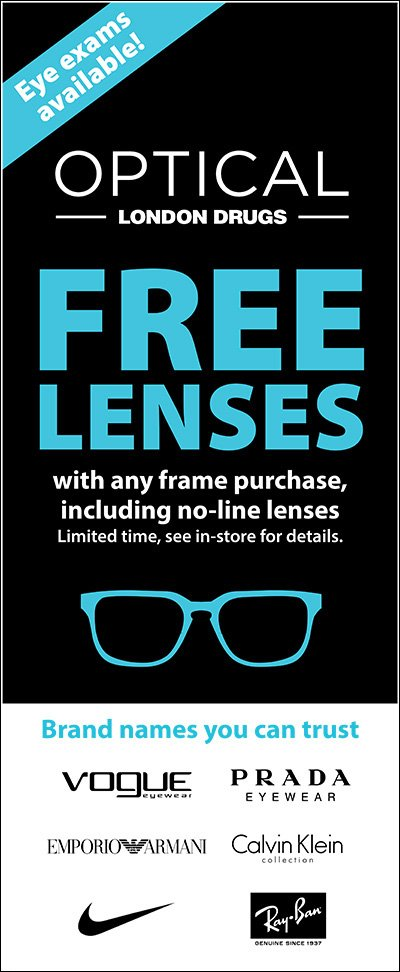 Free Lenses with any frame purchase.  See in-store for details.