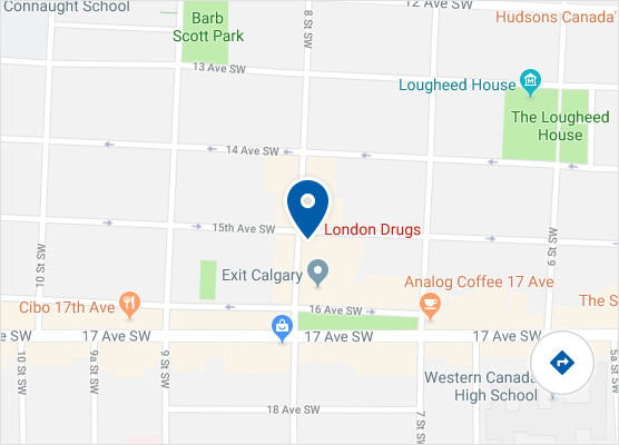 London Sw Map.London Drugs Store At 1508 8th Street Sw Calgary Ab
