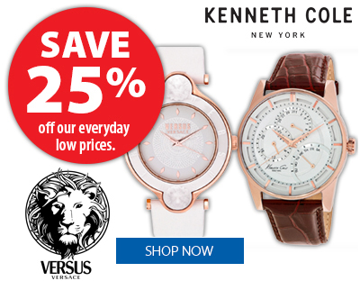 Kenneth Cole and Versus by Versace Watches - Save 25%