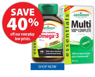 Jamieson Vitamins and Supplements - Save 40%