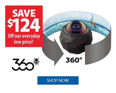 360fly HD 360° Camera - Save $124 off our everyday low price