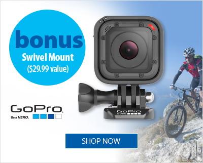 GoPro Hero Session with bonus Swivel Mount
