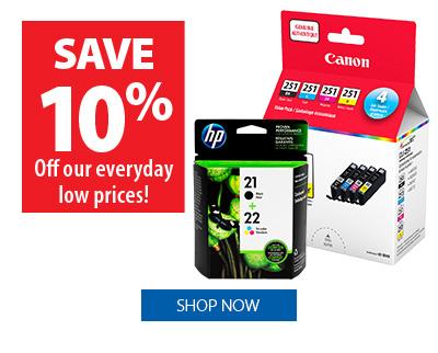 Ink & Toner - save 10%