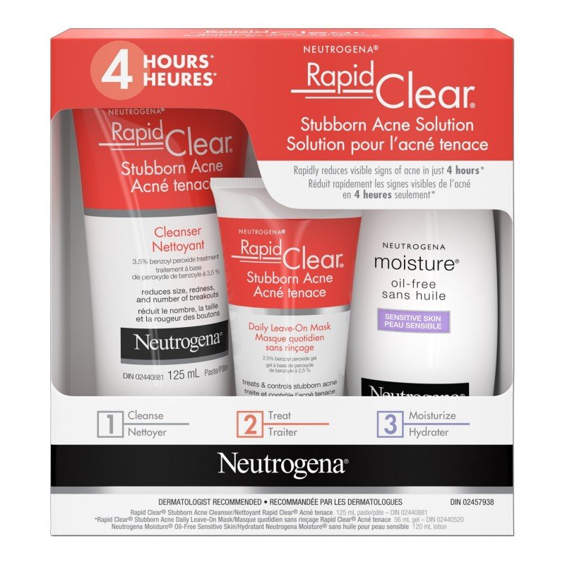 Neutrogena Rapid Clear Stubborn Acne Solution Kit 3 Piece