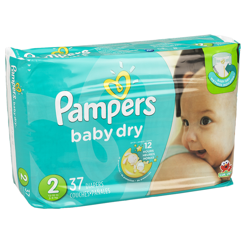 Pampers Baby Dry Diapers - Size 2 - 37's