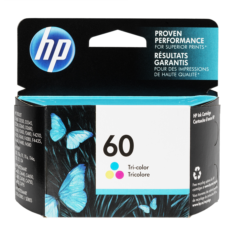 HP 60 Ink Cartridge - Tri-Colour - CC643WC140