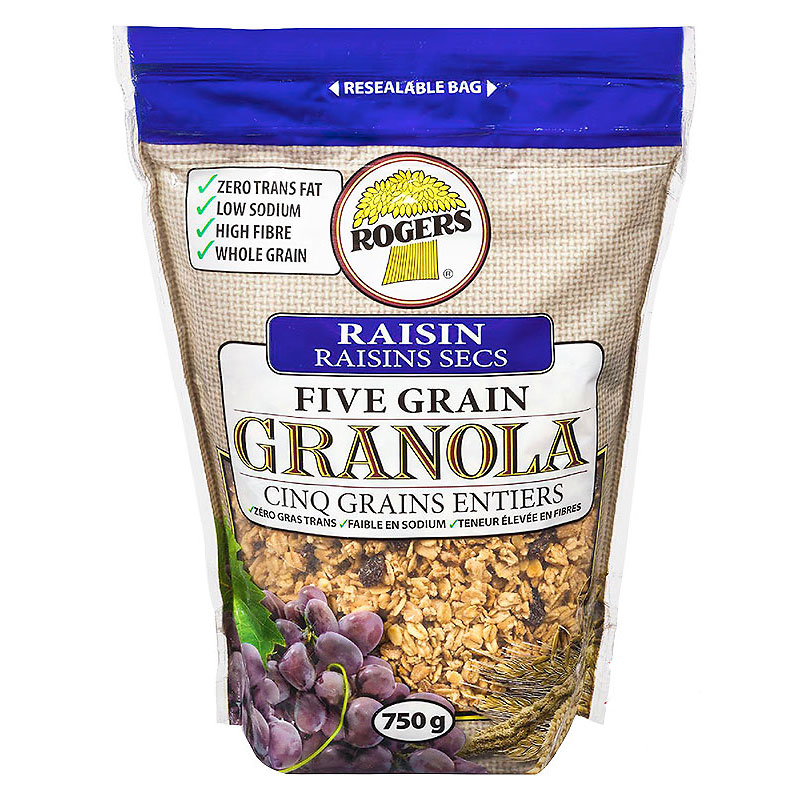 Rogers Five Grain Granola - Raisin - 750g
