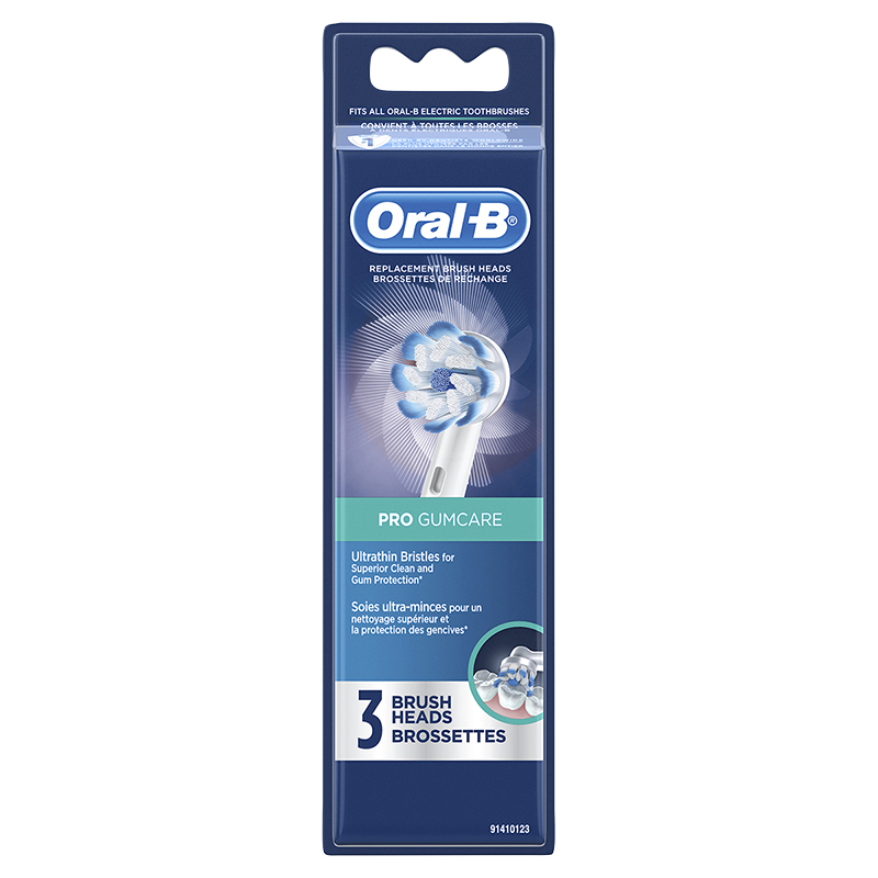 Oral-B Pro Gumcare Replacement Brushheads - 3's