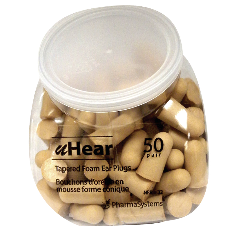 PharmaSystems Tapered Soft-Foam Ear Plugs Value-Pack - Tan - 50 pairs