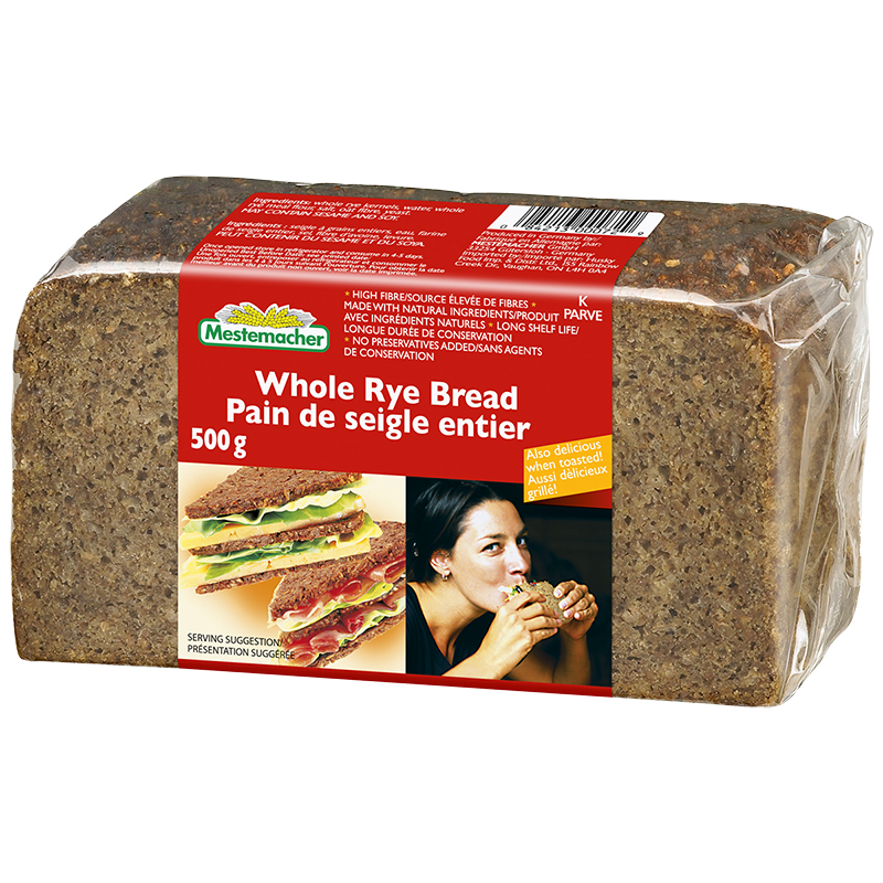 Mestemacher Loaf - Organic Whole Rye - 500g