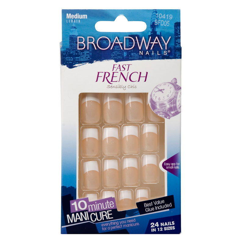 Broadway Nails Fast French Nail Kit - Peach | London Drugs