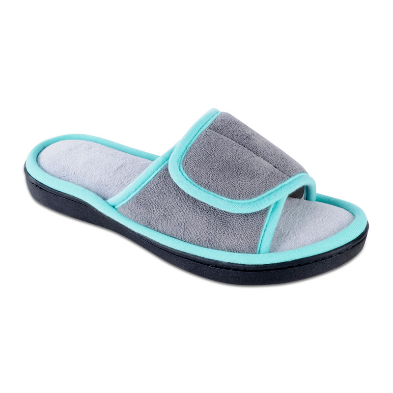 Isotoner Women's Microterry Adjustable Slide Slipper