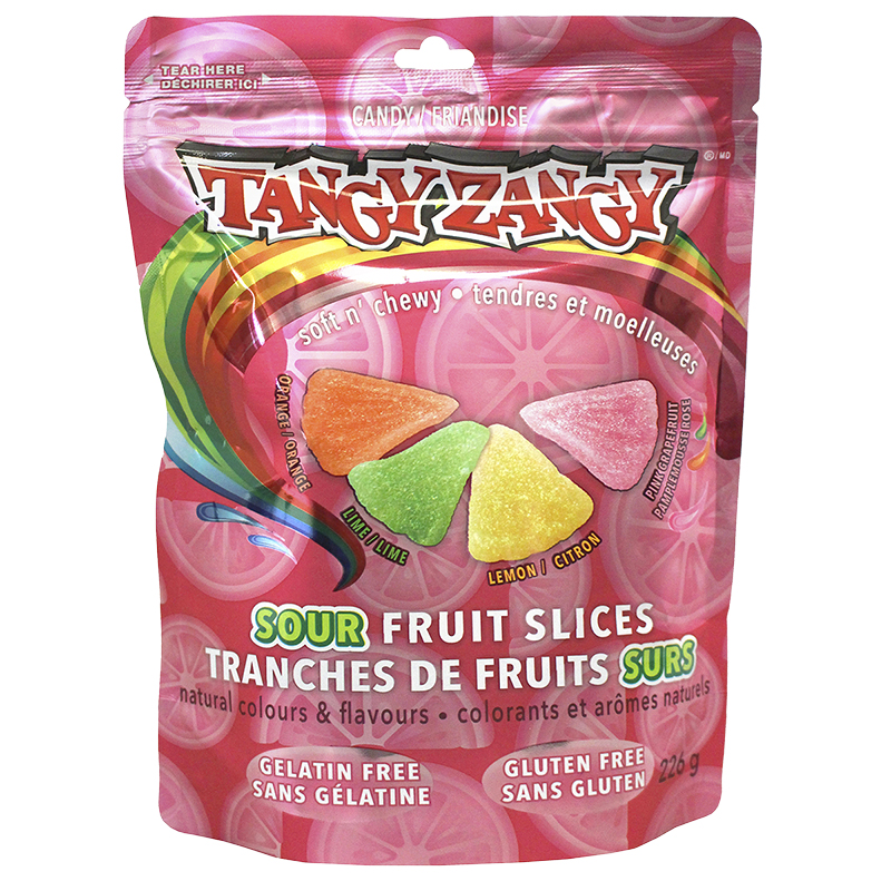 Tangy Zangy Soft n' Chewy Sours - Fruit - 255g