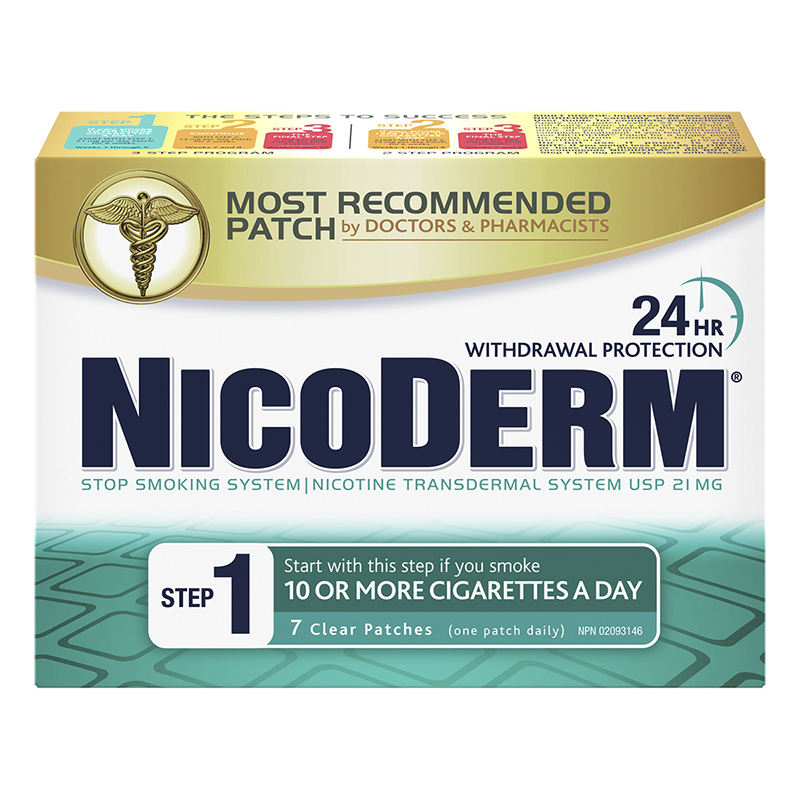 Nicoderm Stop Smoking System STEP 1 - 21mg - 7 clear patches