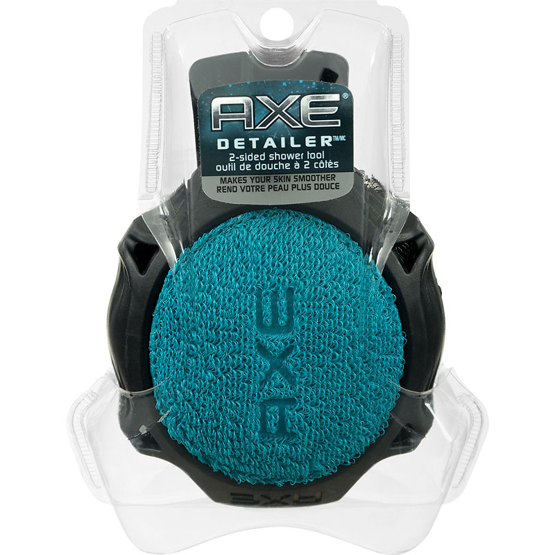 Axe 2-sided Shower Tool - 1 Count