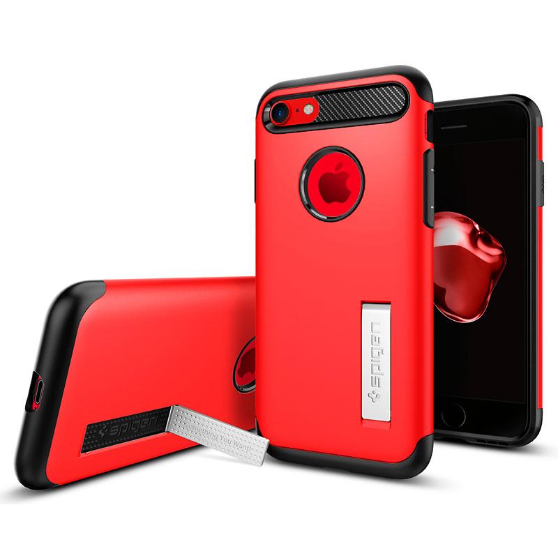 super popular 04534 24223 Spigen Slim Armor Case for iPhone 7 - Crimson Red - SGP042CS21519