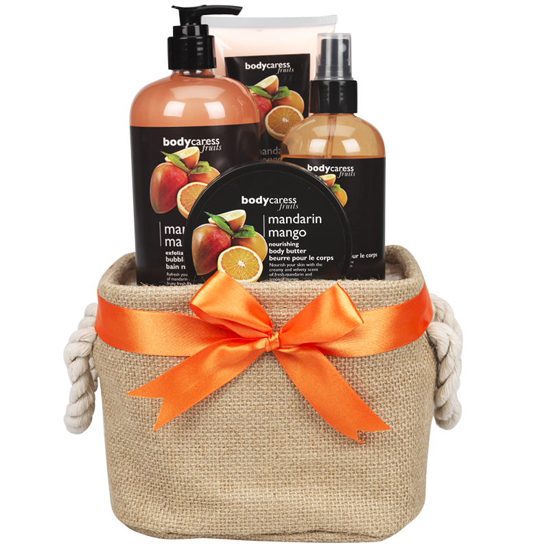 BodyCaress Fruits Gift Set - Mandarin Mango - 4 piece