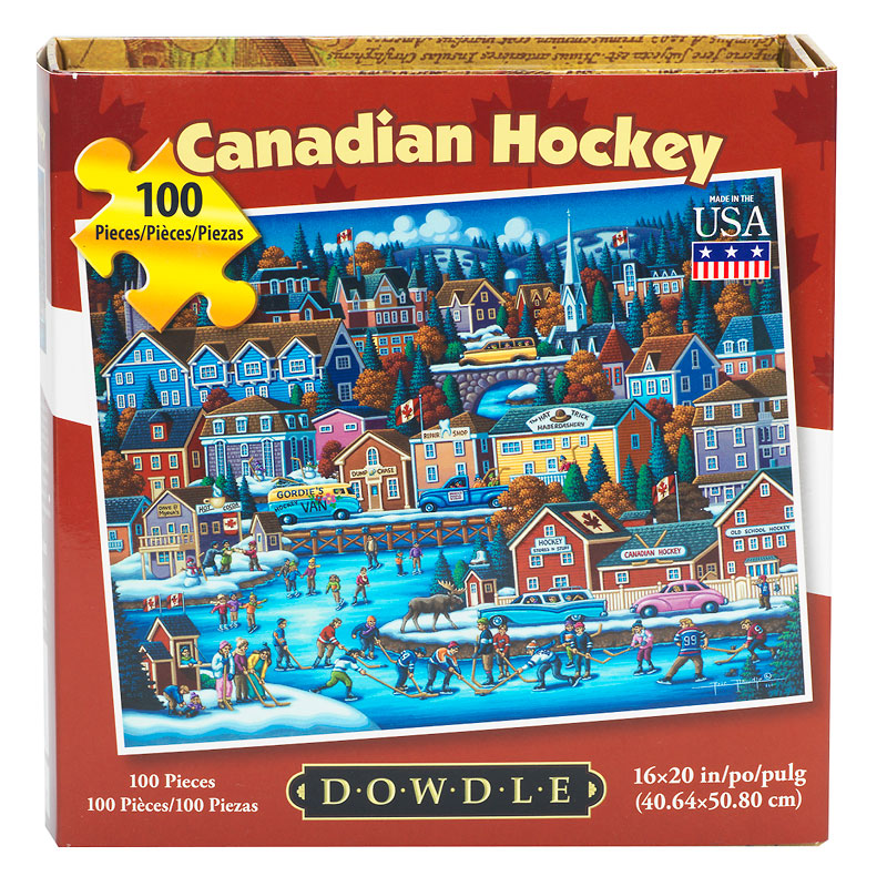 Canadian Hockey Puzzle - 100 pieces - Assorted