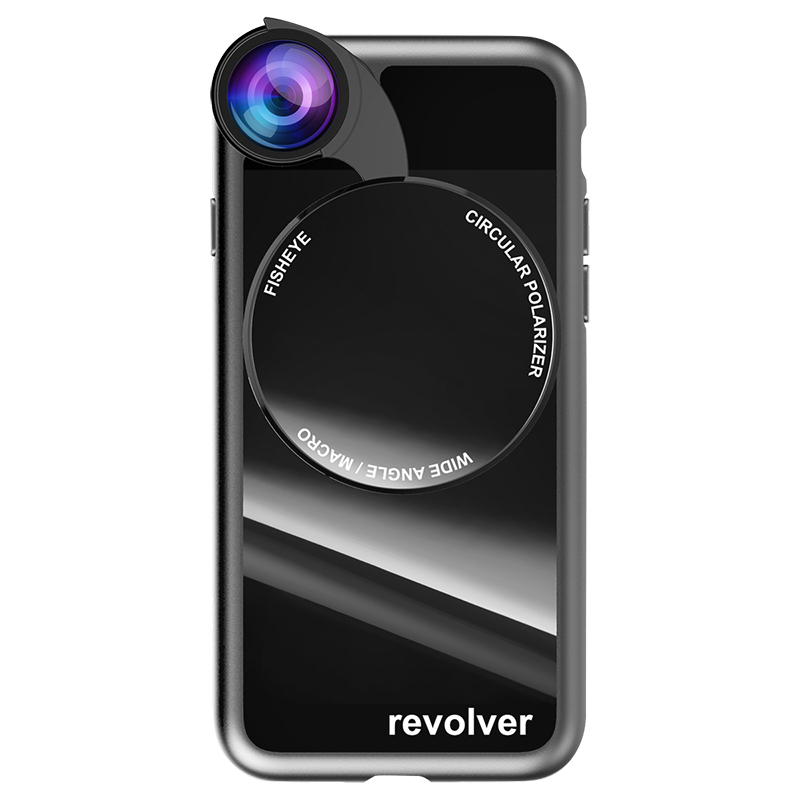 Ztylus Revolver M Series Lens Kit for iPhone 7/8 - Gloss Black - 770M4KITIP8