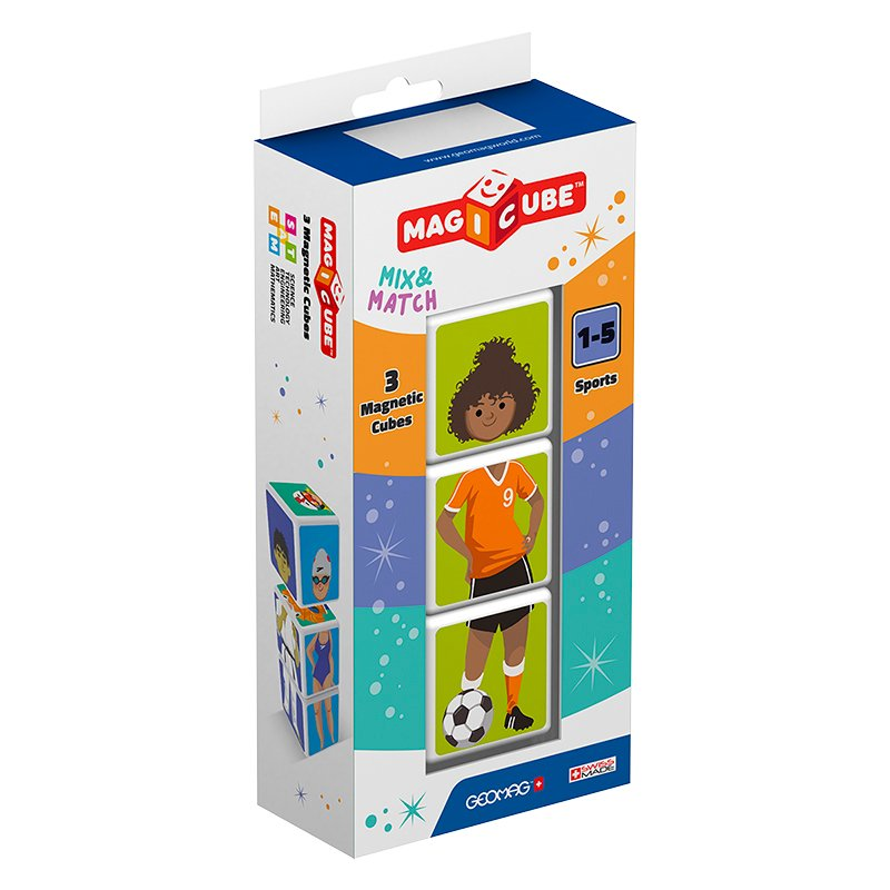 Geomag Magicube Mix and Match Sports - 3 Piece