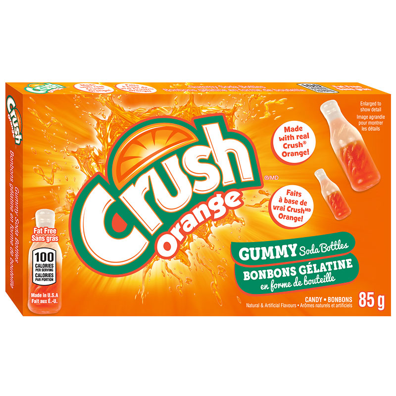Orange Crush Soda Bottle Gummies - 85g
