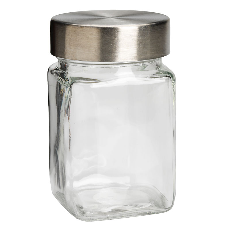 Square Jar with Metal Lid - 350ml