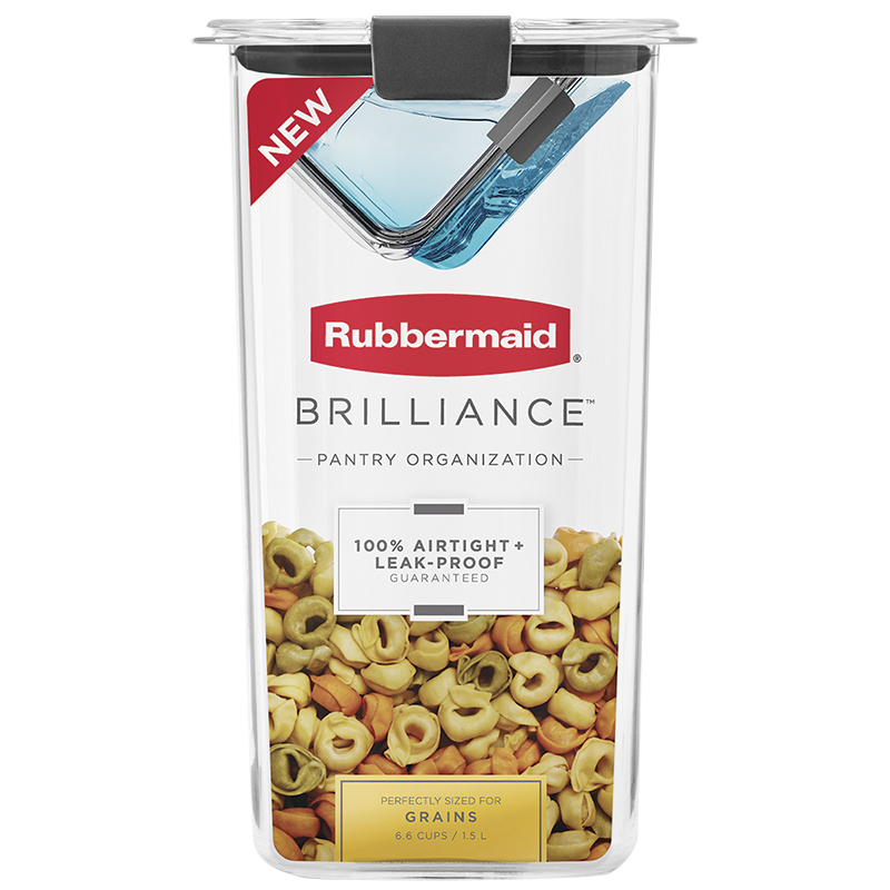 Rubbermaid Brilliance Pantry Canister - Grain - 6.6 cup