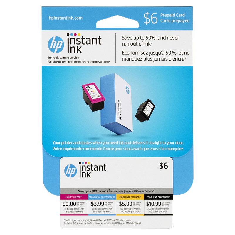 HP Instant Ink - Prepaid Enrollment Card - Web Only - 3JB21AC