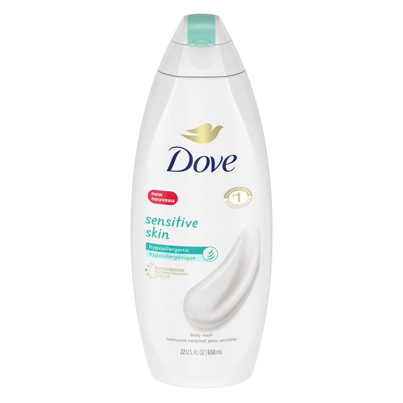Dove Sensitive Skin Bodywash - Unscented - 650ml