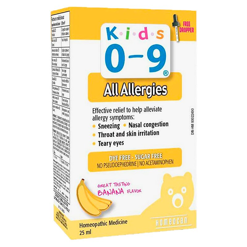 K.i.d.s 0-9 Homeopathic Medicine - All Allergies - 25ml