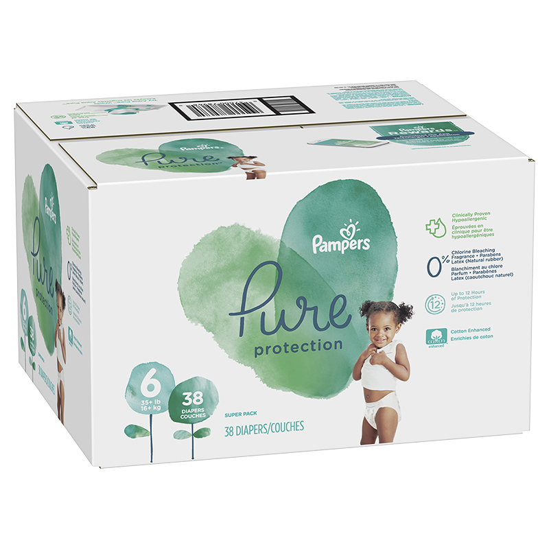 Pampers Pure Diapers - Size 6 - 38's