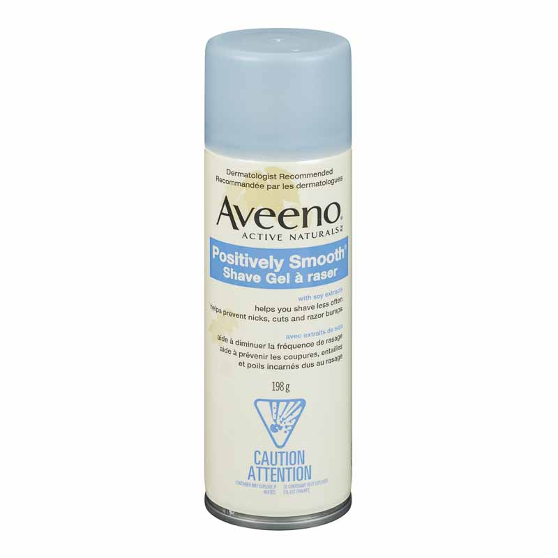 Aveeno Active Naturals Positively Smooth Shave Gel with Soy Extracts - 198g