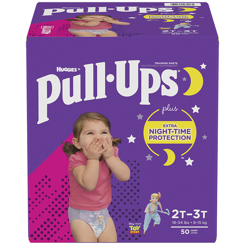 Pull Ups Night Time Training Pants - Girls - Size 2T-3T - 50's